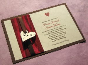 Rustic Country Heart Wedding Invitation