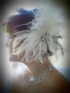 handmade white bridal fascinator