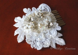 lace bridal hair comb