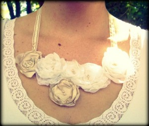 handmade bridal statement necklace