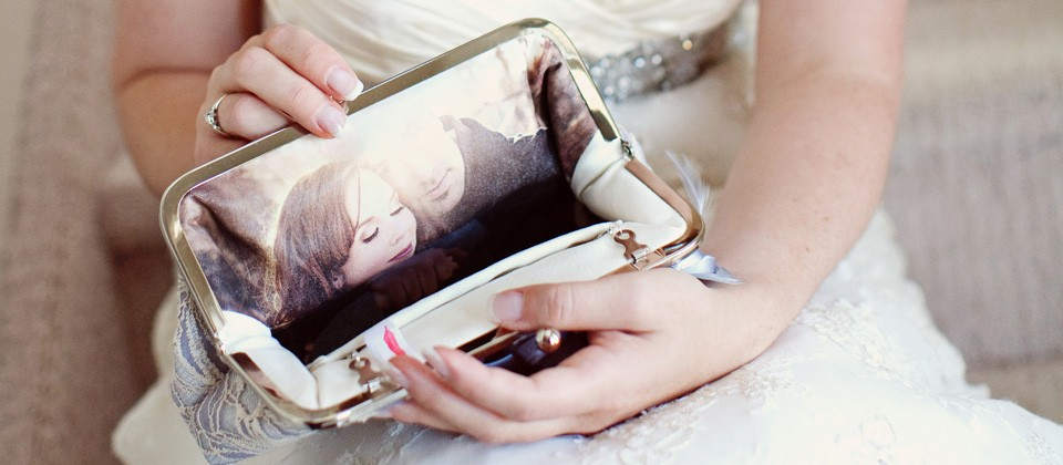 Bridal Photo Personalized Clutch Bag by ANGEE W. | Etsy Wedding Team