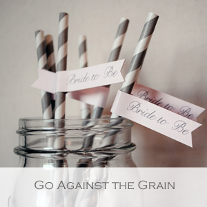 Go Against the Grain - Member of the Etsy Wedding Team