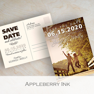 Appleberry Ink - Member of the Etsy Wedding Team (Invitation)