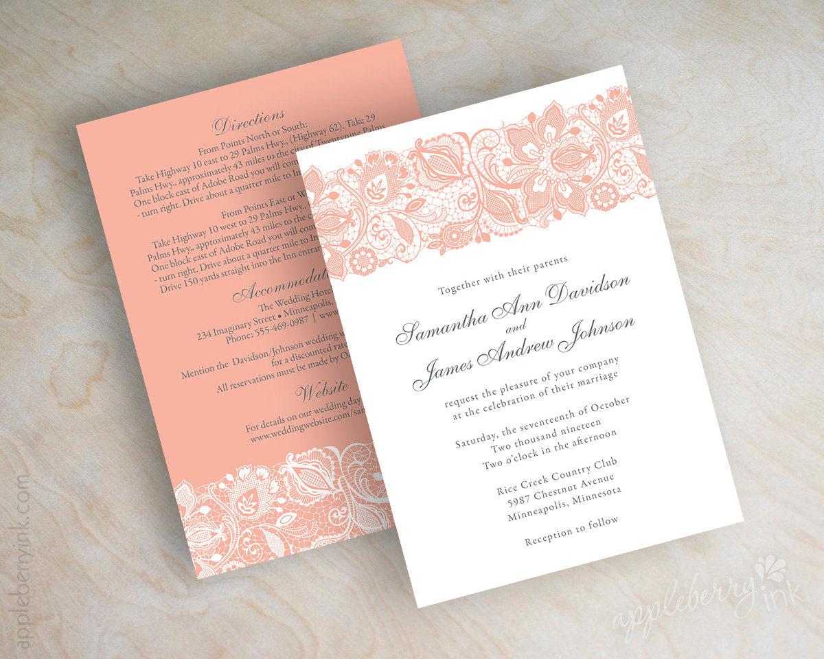 country wedding invitations etsy etsy wedding invitations Etsy Wedding Invitations Text Block Letterpress